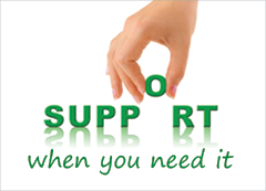Support - when you need it